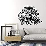 Calcomanías de pared salvaje africano cabeza de león animal depredador dormitorio adolescente hombre cueva bar decoración de interiores vinilo ventana pegatina mural