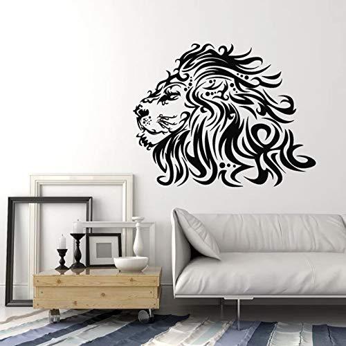 HGFDHG Adhesivos de pared salvaje africano león cabeza animal depredador adolescente dormitorio hombre cueva bar decoración interior vinilo ventana pegatina mural
