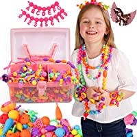 Pop Beads Jewellery Kits for Girls, Colourful Toy Jewellery Making, Arts & Crafts for Kids, age 4-8, Necklace, Ring,...