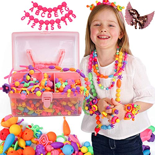 Axel Adventures Pop Beads for Toddlers Kids Jewelry Making Kit - Pop Beads Jewelry Making Kit for Kids with Snap Beads Sensory Bracelet - Jewelry Kit for Kids 4-6 - Girls Jewelry 5 Year Old pop Beads