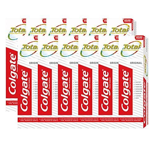 Colgate Tandpasta Total Original – 12 x 75ml – Voordeelverpakking