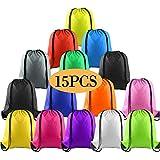 KUUQA 15Pcs Multicolor Drawstring Backpack Bags...