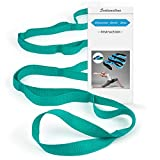 Scotamalone Yoga Strap, Multi-Loop Strap, Stretch Strap, Nonelastic Stretch Bands Exercise Bands Rehab Strap for Physical Therapy, Pilates, Dance and Gymnastics with Carry Bag (Tender Green)