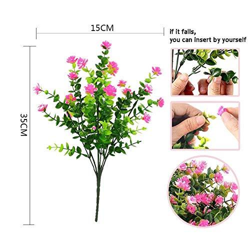 1 Bündel Künstlicher Plastik Blumenstrauß für Haupt Dekorations Pflanzenwand Garten Deko - 5