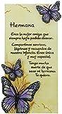 Framan PERGAMINO DE Piedra LABRADA con Textos para Ocasiones Especiales, Original Y ECONÓMICO. Especial Hermana