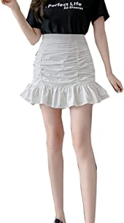 N\P A Vita Alta Floreale A-Line Gonne Donne Estate Coreano Sexy Breve Kawaii Mini Gonna Vestiti Donna