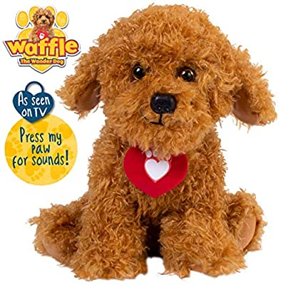 Waffle the Wonder Dog Soft Toy with Sounds by Golden Bear Products Ltd