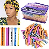 100pcs Perm Rods Set for Natural Hair 5 Sizes Cold Wave Rods Hair Rollers for Women Hair Curling...