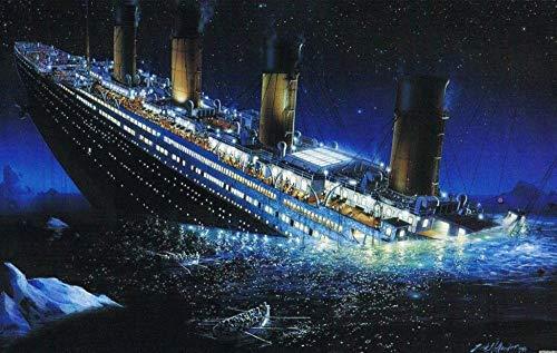 Miniatur Mini 1000 Stück Puzzles für Erwachsene Titanic Robuste Papppuzzles Brain Exercise Challenge Spielgeschenk mit hohem Schwierigkeitsgrad für Kinder 38 * 26cm