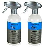 Koch Chemie 2X CLS Clay Spray Gleitspray für Reinigungsknete siliconölfrei 500ml