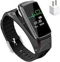 YOPEEN Relojes Inteligentes Auriculares Bluetooth Manos Y Wireless Stealth Mini Auricular Bluetooth El Oído El Negocio Del Deporte Para Escuchar Hablar De Música + Cargador Universal