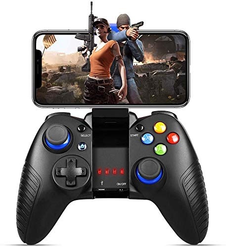 Handy Controller Wireless, PowerLead Gamepad für iPad Mini/Mobile, Wireless Game controller für PUBG, Gamepad support iOS/Android