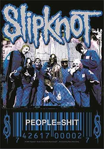 Heart Rock Bandera original Slipknot People = Shit, tela, multicolor,