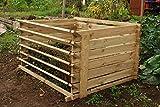 Lacewing 718 Liter Komposter aus Holz mit Stecksystem, 65cm x 120cm x 92cm