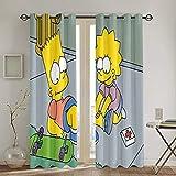 QQSDWQ The Simpsons Zwei Spleißvorhänge 132,1 x 182,9 cm,