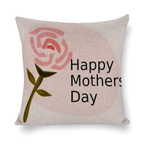 PeteGray Flower And Wish - Fundas de almohada de 45 x 45 cm, decoración de casa de campo para sofá, sofá, decoración para padre, funda de almohada para dormitorio