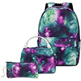 Galaxy School Bags for Boys Teenage, School Backpack with Lunch Bag and Pencil Case for Kids Teenagers