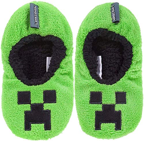 Vanilla Underground Minecraft Boys/Kids Comfort Slippers House Shoe (Creeper Zombie Steve Alex)