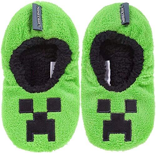 Vanilla Underground Minecraft Boys/Kids Comfort Slippers House Shoe (Creeper Zombie Steve Alex)