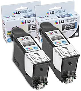 LD Compatible Ink Cartridge Replacement for Kodak #10 8237216 (Black, 2-Pack)