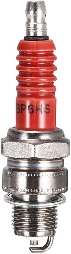 YPASDJH BP6HS bujía for el generador de Cortador de césped Tractor Go Kart Mini Bike para cortacéspedes, desbrozadoras, (Color : BP6HS 2pcs)