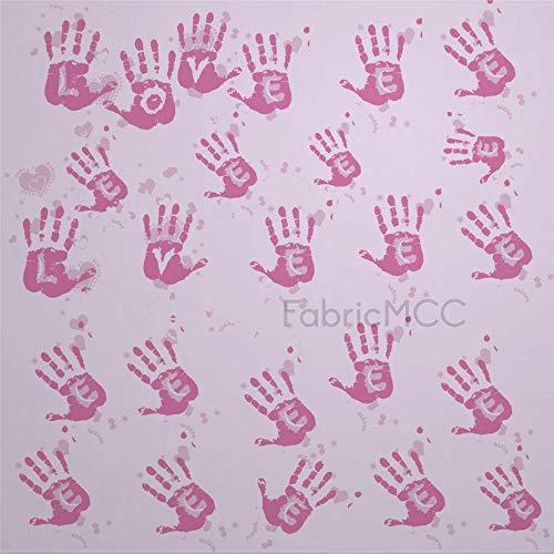 daoyiqi Pinkie - Juego de adhesivos decorativos para azulejos (12 x 12 pulgadas), diseño de azulejos de vinilo para el suelo, 12 unidades, impermeable, vinilo para decoración del hogar