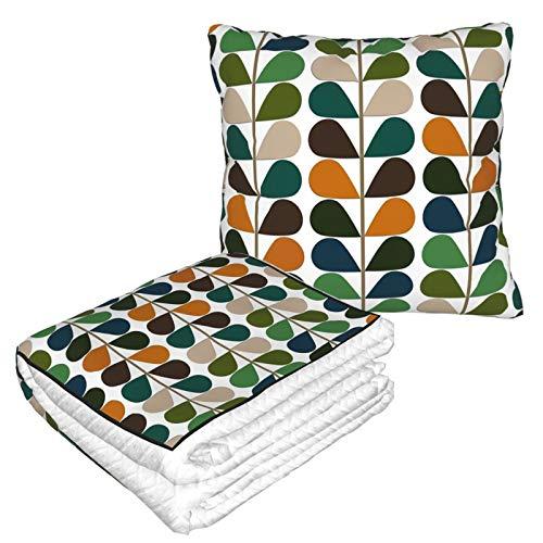 Manta de almohada de terciopelo suave 2 en 1 con bolsa suave retro de los años 60 mediados de siglo moderno funda de almohada para el hogar, avión, coche, películas de viaje