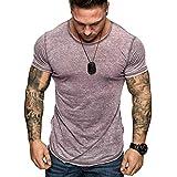 T-Shirt Africain Homme Casual, Hommes Été T-Shirt Décontracté T-Shirt Style Ethnique pour Les Hommes de la Mode des Hommes Slim Fit Col V Haut