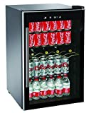RCA RMIS1530 Freestanding Beverage Center Cooler Fridge Fits 110 Cans or 36 Wine Bottles, Black