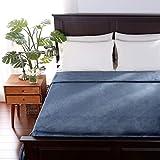 Berkshire Blanket EcoThread Blanket | VelvetLoft Heavyweight Blanket | Eco-Friendly Plush Bed Blanket | Cadet Blue | Full/Queen (90' x 90')