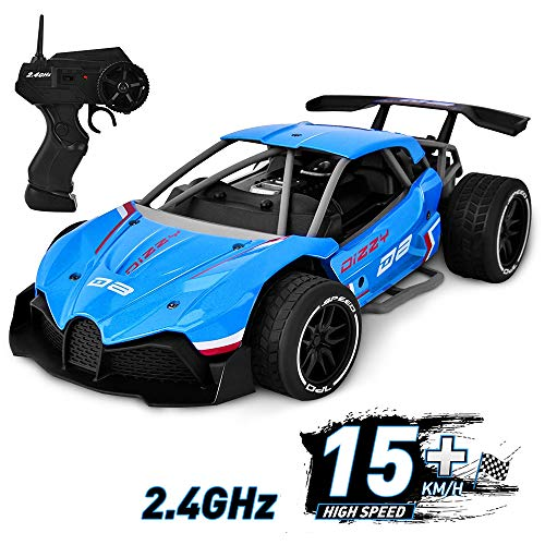 Flyglobal RC Race Car High Speed Remote Control Car Rechargeable 2.4Ghz Radio Control RC Drift Car Off Road 1:16 Scale 4WD Metal Alloy Fast Electric RC Racing Car for Kids Boys