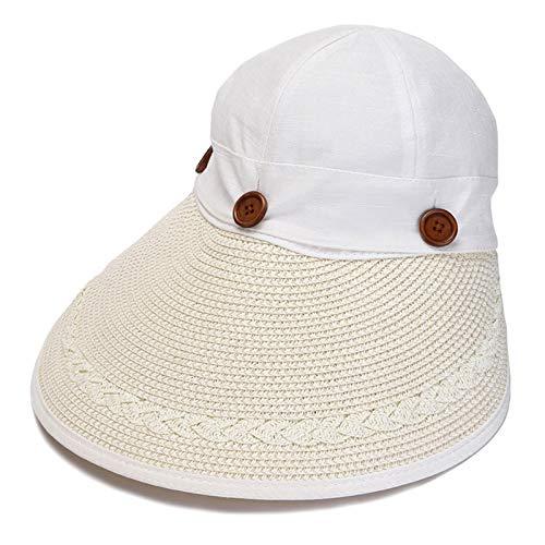 Sunhat Sun sombrero al aire libre - Bicicleta del sombrero de paja playa Sombreros Sombrero de sol de protección solar plegable al aire libre aleros grandes protección UV del plano de la manera Sombre