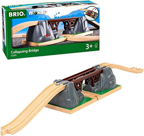 BRIO World 33391 Einsturzbrücke - Ergänzung für die BRIO Holzeisenbahn - Empfohlen ab 3 Jahren