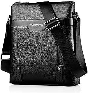 QGTAU Bags 18067 Men Leisure Style PU Leather Single Shoulder Bag (Black) (Color : Black)