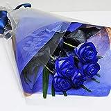 本数をお選びください 青いバラの花束 5本~100本 ブルーローズ 花宅配 花贈りエーデルワイス 花工房 (5)