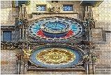 1000 piezas-Campanillas de Praga o Águila Praga República Checa 16/06/2015 Rompecabezas de madera medieval DIY Rompecabezas educativos para niños Regalo de descompresión para adultos Juegos creativos