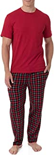 Men's Fleece Sleep Pant and Knit Top Sleep Set