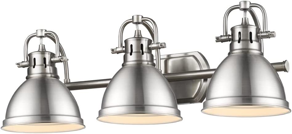 Golden Lighting 3602-BA3 PW Milwaukee Mall Duncan Pew Pewter with Bath Fixture Max 74% OFF