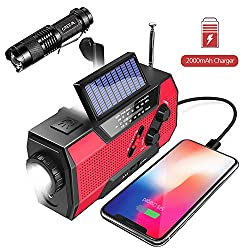 Emergency Weather Radio,Omew Portable Solar Hand Crank NOAA Weather Radio...