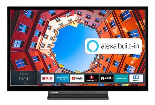 Toshiba 32WK3C63DA 32 Zoll Fernseher (HD ready, Smart TV, Prime Video / Netflix, Alexa Built-In, Bluetooth, WLAN, Triple Tuner), schwarz