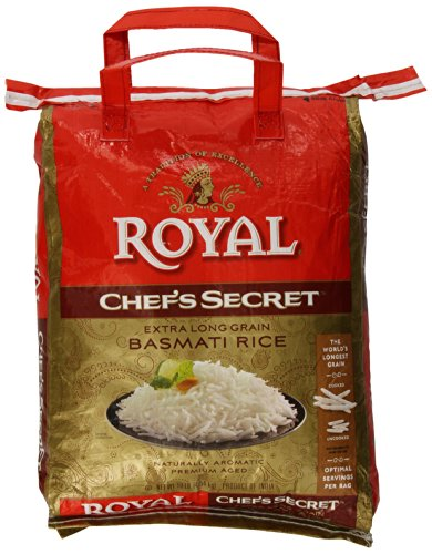 Royal Chef's Secret Extra Long Grain Basmati Rice, 10 Pound, White