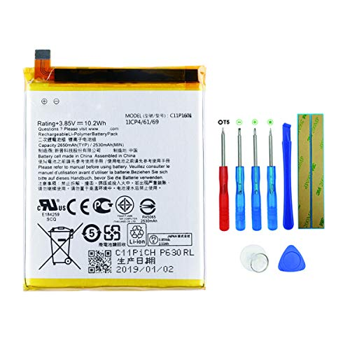Swark C11P1601 - Batteria compatibile con ASUS ZENFONE 3 ZE520KL Z017D ASUS ZENFONE LIVE ZB501KL