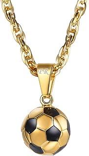PROSTEEL Stainless Steel 3D Soccer Football/Basketball Charm Necklace/Earrings Unisex Jewelry Boys Mens Girls Womens Fan Gift
