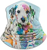 NA Stylish Funny Little Dalmatian Puppy Dog Neck Warmer Scarf Fleece Neck Gaiter Tube Winter Windproof Ski Face Mask & Beanie for Men Women Motorcycle Headwear Outdoor Sports Balaclava Half Mask