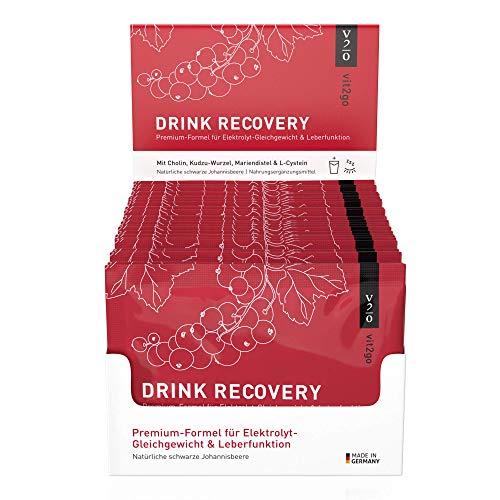 Vit2go DRINK RECOVERY (30 Sachets) - Elektrolyte Pulver zum Trinken, Vitamin Getränk mit Magnesium für die Nacht den Morgen nach der Party, Made in Germany, vegan