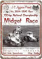 JC Agajanian Midget Race San Jose Speedway ティンサイン ポスター ン サイン プレート ブリキ看板 ホーム バーために
