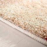 qazxsw Wohnzimmer Rutschfester Teppich Verdickte helle Seidenteppiche Fusselfreie Schlafzimmer-Bettmatten im modernen Stil - 4