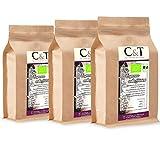 C&T Bio Espresso Crema   Cafe entkoffeiniert 100 % Arabica 3x1000 g ganze Bohnen Gastro-Sparpack im...