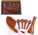 Yinfente 4/4 Kit de violín de tamaño completo accesorios de violín de palisandro violín Peg Tailpiece Chin Rest End Pin