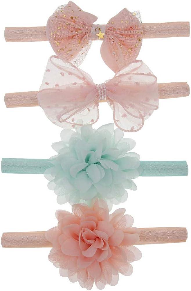 Little Story 10Pcs Kids Floral Headband Hair Girls Baby Bowknot